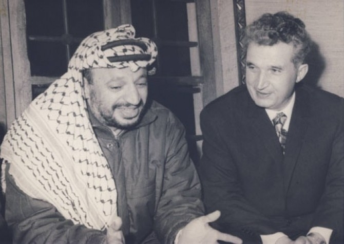 Arafat Meets With Russian Soviet